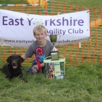 Jack winning best in show at Ryedale dog rescue fun show and agility demonstration